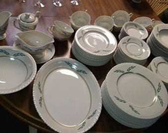 Vintage Hanover China, Coronation Pattern Service for 6 and Replacement Pieces, Assorted Variety, Assorted China