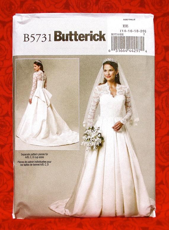Butterick Sewing Pattern B5731, Bridal Gown, Royal Wedding Dress ...
