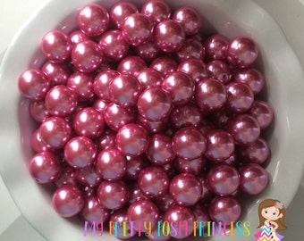 20mm Mauve Chunky Beads Bubble Gum Pearls (A20)