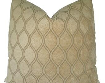 Decorative Designer Geometric Moroccan Lattice, Beige Taupe  Pillow Cover, 18x18, 20x20, 22x22 or lumbar,  Throw Pillow