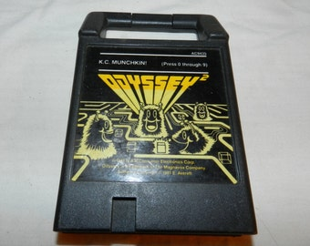 K. C. Munchkin - Vintage 1981 Game Cartridge for the Magnavox Odyssey 2 video game console - Early Collectible Video Game Cartridge    32-10