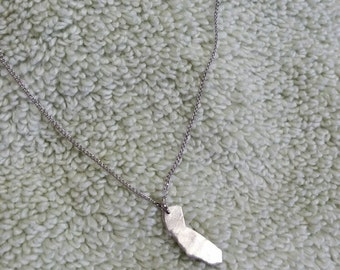 Handmade California State Sterling Silver Charm Necklace