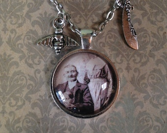 Victorian Headless Photography Art Pendant Necklace