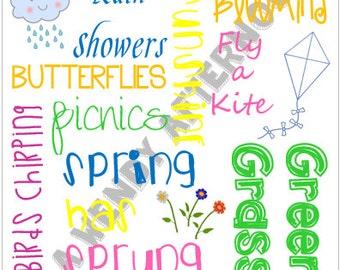 8 x 10 Seasons Four Pack Subway Art - Digital Download - PDF File