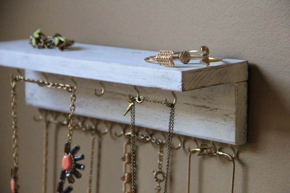 Jewelry Display Rustic Jewelry Storage Wood Jewelry
