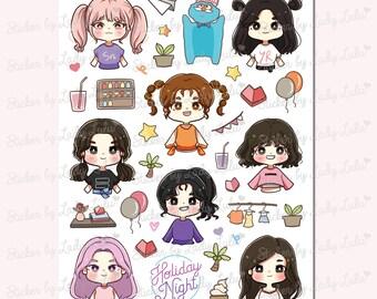 Kpop Girls' Generation sticker sheet
