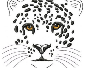 Leopard Machine Embroidery Design