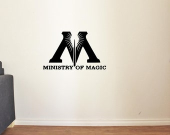Harry Potter Vinyl Wall Decals Ministry of Magic Decor Stickers Vinyl MK4514