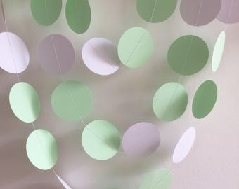 Mint and White Circle Garland , Decor, Party Decor, Weddings, Celebrations