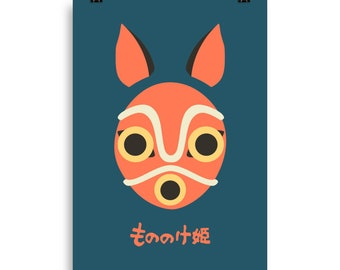 Princess Mononoke Mask Poster