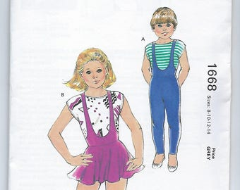Kwik Sew 1668 - GIRLS Unitard, Leotard and Top - Sizes 8, 10, 12, 14