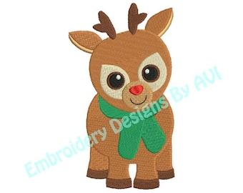 Reindeer Deer Christmas Machine Embroidery Designs 4x4 & 5x7 Instant Download Sale