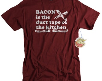 Birthday Gift for Men - Funny Bacon Shirt - Bacon Gifts - Birthday Gifts for Boyfriend Husband or Brother - Bacon T shirt