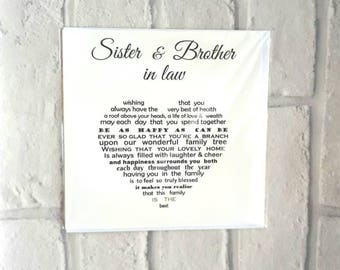 Sister and brother in law card, anniversary card for sister and brother in law, family anniversary