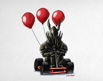 Dark Souls Invades Mario Kart (Black Knight)