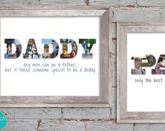 Custom Photo Collage   Father's Day Custom Collage   Daddy Photo   Grandpa   Dad   Papa