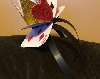 Queen of Hearts Crown- Alice in Wonderland Headband