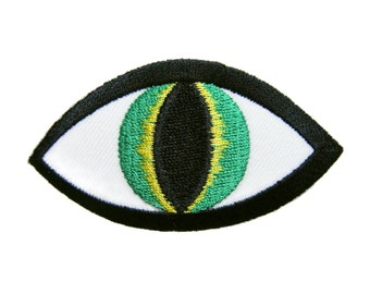 Eye Eyeball Embroidered Applique Iron on Patch