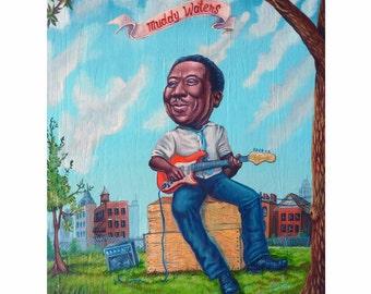Muddy Waters - Reproduction - Mr. Hooper Art - On Sale