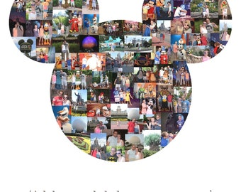 Mickey Head photo collage