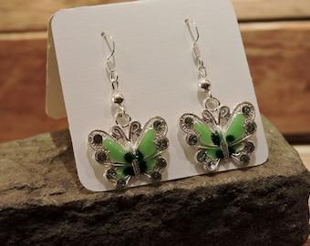 Butterfly Earrings, Butterfly Dangle Earrings