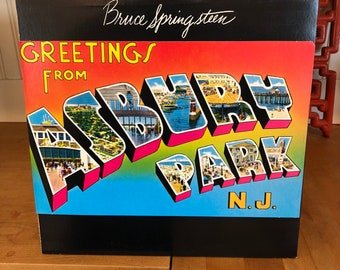 Bruce Springsteen,Greetings From Asbury Park.Record# JC 31903. 1980 Reissue. Nice Clean Copy. Great Record! Spirit In The Night!!