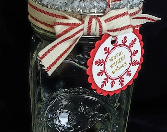 Mason Jar Gift Container--Hand made Diorama for Christmas and Winter Holidays