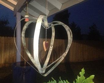 Wine barrel band heart spinner