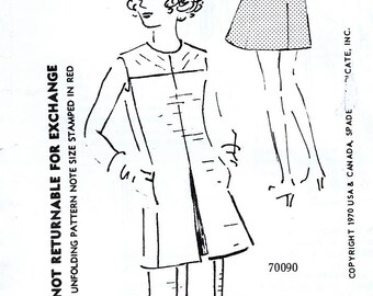 Spadea 70090 Vintage 70s Sewing Pattern by Designer Harvey Berin for Misses' Dress or Tunic and Pants - Size 12