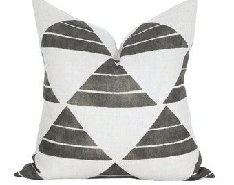 Uroko pillow cover in Ink - ON BOTH SIDES