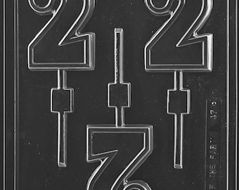"LOPL-047 - Number ""2"" Chocolate Lollipop Mold"