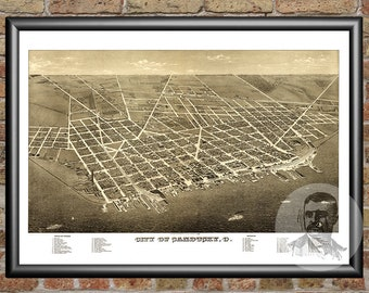 Sandusky, Ohio Art Print From 1883 - Digitally Restored Old Sandusky, OH Map - Perfect For Fans Of Ohio History