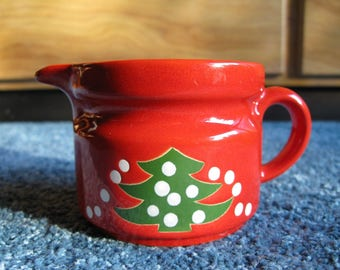 "Price Drop! Vintage WAECHTERSBACH W. Germany CHRISTMAS Small PITCHER 2-3/4 x 5"" Excellent!"