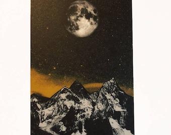 Moon - postcard, greeting card, valentines day, nature theme, moon postcard