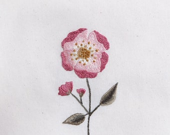 Floral hand embroidery pattern / by StitchFloral / PDf pattern, embroidery design / Cecelia Rose