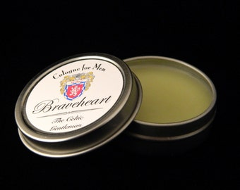 Braveheart Men's Solid Cologne - All Natural Fragrance