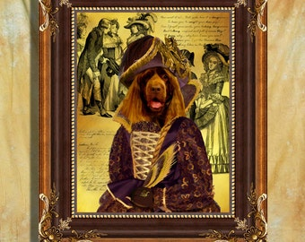 Sussex Spaniel Art Print 11 x 14 inch original illustration artwork giclee archival premium poster print By Nobility Dogs