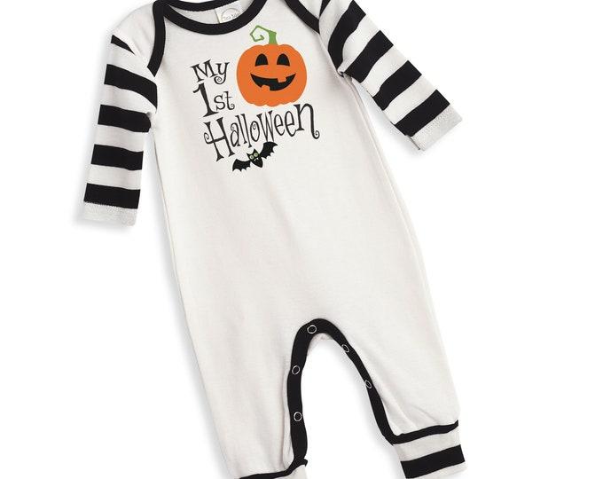 Halloween Baby Boy Pumpkin Outfit, My First Halloween Onesie Baby Boy, Baby 1st Halloween Onesie, Newborn Halloween Bodysuit Boys Tesababe