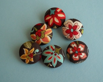 Bavarian cream - fabric covered button collection