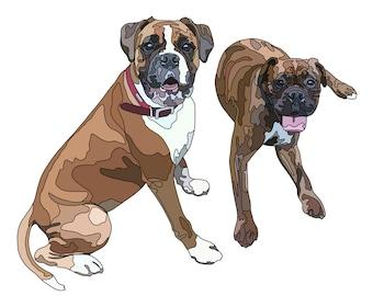 Dog portrait, Custom Pet Portrait, Dog Mom Gift, Dog Lover Gift, Birthday Gift For Her, Dog Wall Art, Personalised pet gift, Dog Print,