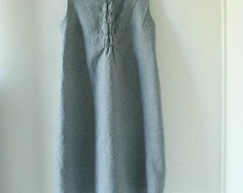 GREY LINEN DRESS / woffle dress / women linen clothing / spring summer dress / wedding / maxi dress / made in  australia by pamelatang