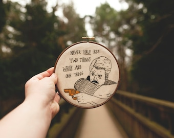 Ron Swanson Embroidery