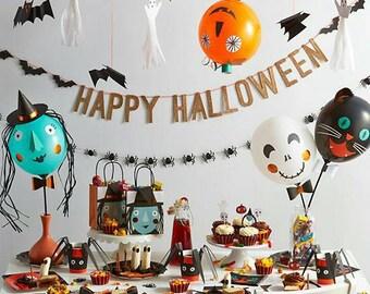 Halloween Party Decorations. Halloween Banner. Halloween. Halloween Party. Meri Meri. Halloween Decor.
