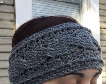 Crocheted Cable Ear Warmer