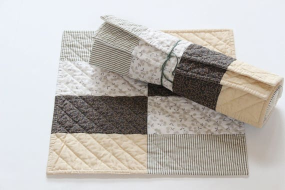Modern Quilted Patchwork Placemat Set of Four