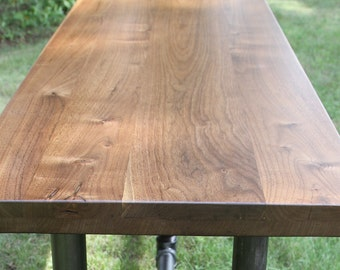 Black Walnut Slab Countertop Butcher Block Tabletop Reclaimed Salvaged American Walnut Table Bar Desk Hairpin Leg DIY Counter Island