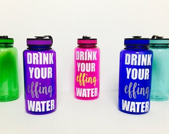 Drink your effing water bottle // drink your water // water tracker // effing water bottle // water bottle // sports bottle // funny water