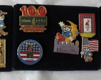 Lot of 15 Olympic 1996 Atlanta Pins ~ Mascot IZZY