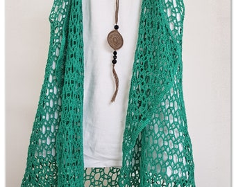 Summer crocheted vest. Crochet pattern