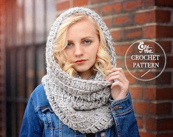 CROCHET PATTERN Sasha Chunky Cowl, by Cozy Hat.